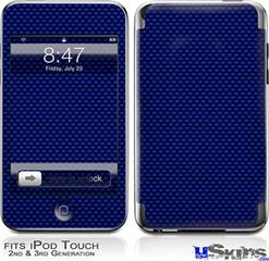 iPod Touch 2G & 3G Skin - Carbon Fiber Blue