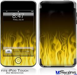 iPod Touch 2G & 3G Skin - Fire Flames Yellow