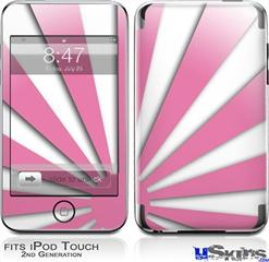 iPod Touch 2G & 3G Skin - Rising Sun Japanese Pink