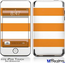 iPod Touch 2G & 3G Skin - Psycho Stripes Orange and White