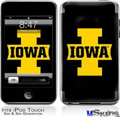iPod Touch 2G & 3G Skin - Iowa Hawkeyes 04 Gold on Black