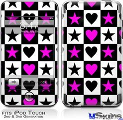 iPod Touch 2G & 3G Skin - Hearts And Stars Pink