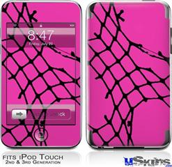 iPod Touch 2G & 3G Skin - Ripped Fishnets Pink