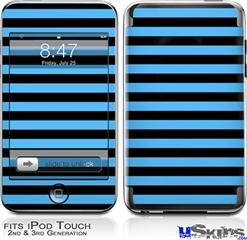 iPod Touch 2G & 3G Skin - Stripes Blue