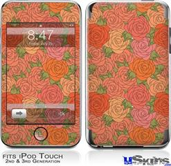 iPod Touch 2G & 3G Skin - Flowers Pattern Roses 06