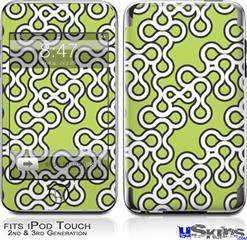 iPod Touch 2G & 3G Skin - Locknodes 03 Sage Green