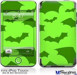 iPod Touch 2G & 3G Skin - Deathrock Bats Green