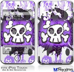 iPod Touch 2G & 3G Skin - Cartoon Skull Purple