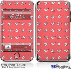 iPod Touch 2G & 3G Skin - Paper Planes Coral