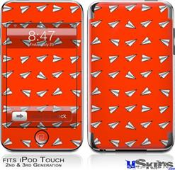iPod Touch 2G & 3G Skin - Paper Planes Red