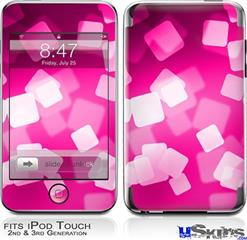 iPod Touch 2G & 3G Skin - Bokeh Squared Hot Pink