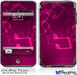 iPod Touch 2G & 3G Skin - Bokeh Music Hot Pink