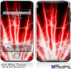 iPod Touch 2G & 3G Skin - Lightning Red