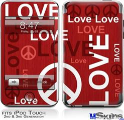 iPod Touch 2G & 3G Skin - Love and Peace Red