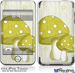 iPod Touch 2G & 3G Skin - Mushrooms Yellow